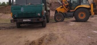 Благоустройство территории на полигоне твердых бытовых отходов за пгт Тельманово