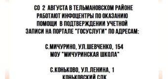 Информационный центр в Тельмановском районе